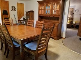 Keller Solid Oak dining table and hutch