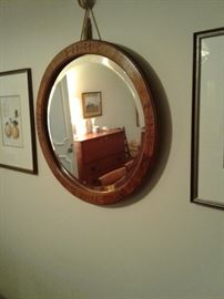 Beautiful beveled mirror.  Antique