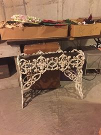 we have a lot of white wrought iron