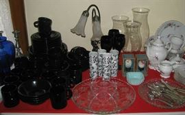 Some of the china and glassware