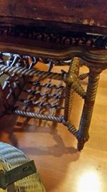 rare antique M. Younglove Ransom Fretwork table