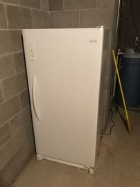 working upright freezer
