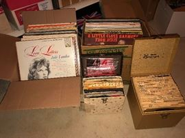 100s of vintage vinyl records.