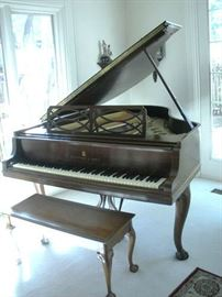 Steinway Baby Grand Piano.....View a VIDEO of the piano on the Facebook page.....Lafayette Jeff Antique Show.