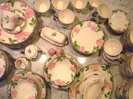 Franscian Dessert Rose China....perfect for spring dinner on the patio.