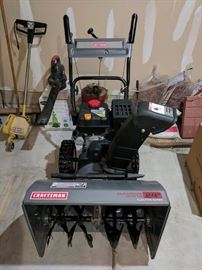 "Craftsman Electric Start , 24"" Snowblower nearly new."