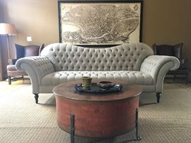 Arhaus Exaggerated Arm Club Sofa, PAIR Available