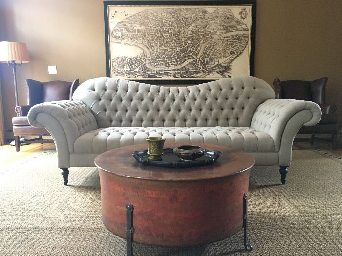 Arhaus Exaggerated Arm Club Sofa, PAIR Available
