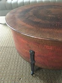 Mohr McPherson Hammered Copper Cauldron Table