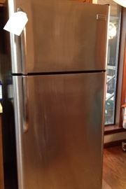 Frigidaire Refrigerator Black with a Stainless Front