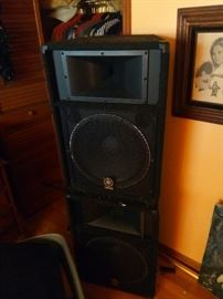 Here are some of his speakers that he used on stage. It will be a appraisal sheets hanging in the room that shows what they are worth