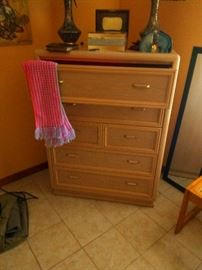 Here's part of the guest bedroom includes tall dresser and two nightstands and a queen size bed. Price set at only $250