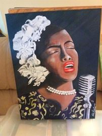 He also loved Jazz and Blues so here's a depiction of a jazz singer