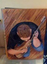 After Paul couldn't perform anymore on stage he directed his talents to paint what his passion was... The performer