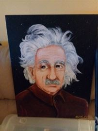 Even rock stars get bored with their time and start painting whatever comes to their head Paul loved painting Einstein