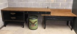 Antique Desk with matching extension.