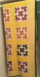 Hand made quilted & pieced 5 Point Star Quilt.  Very Nice