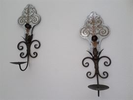 Black Iron  Candle Holder wall Sconces