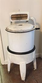Vintage small washing machine on casters