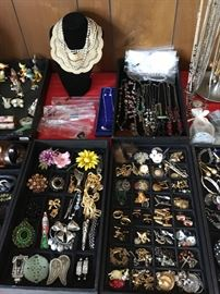 PINS, EARRINGS, CUFF LINKS, NECKLACES