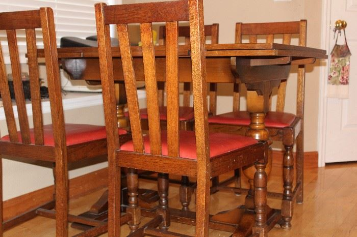 STICKLEY STYLE CHAIRS & TABLE