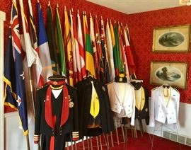Legion of the Frontiersmen jackets/uniforms. Like new flags from many nations.