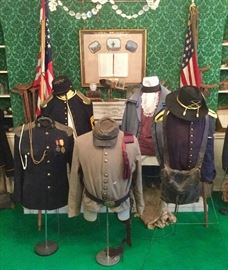 Authentic and reproduction/reenactment military uniforms and accessories both Civil War & WWII.