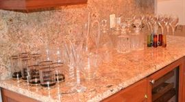 DECANTERS, WINE GALSSES, AND CRYSTAL