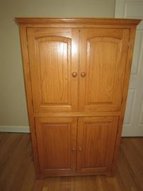 Small computer armoire