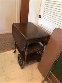 #2 Wooden cart with one drawer and tray 24x15-33 $120