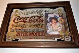 Classic Coca Cola Mirrored Wall Art