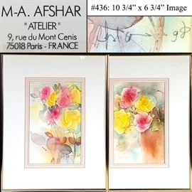 Art Afshar MA Watercolor Florals
