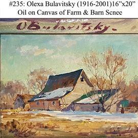 Art Bulavitsky Olexa Oil On Canvas Farm Scene