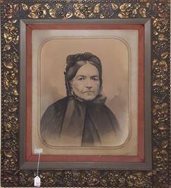 Art Charcoal Portrait Fancy Frame