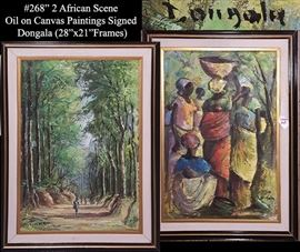 Art Dongala Oil On Canvas Africa Women Paintings Pr