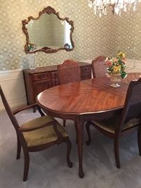 Bernhardt dining table & chairs