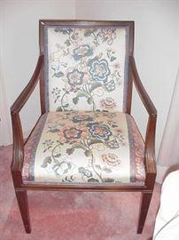 Mahogany arm chair, circa 1950