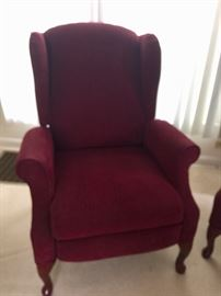 Pair of comfortable Lane wingback recliners!  Only about a year old.