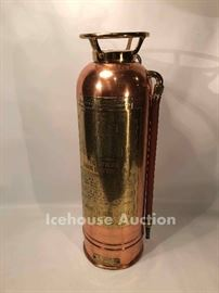 Antique brass fire extinguisher - San Francisco, CA