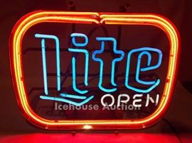Vintage Miller Light neon pub sign