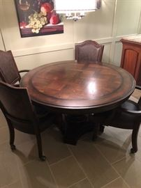 Beautiful inlaid table w/four chairs