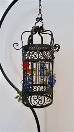 Iron Bird Cage and Stand