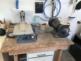 Saw and Bench grinder