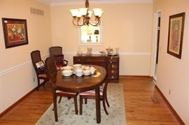Dining room with Thomasville furniture.
