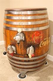 Coca Cola and root beer barrel.