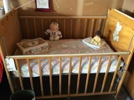 Circa 1950 beautifully kept baby crib..