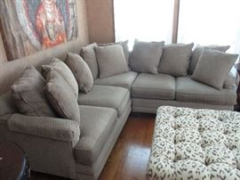 Sectional sofa.  Ottoman not included.