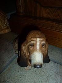 basset hound pottery