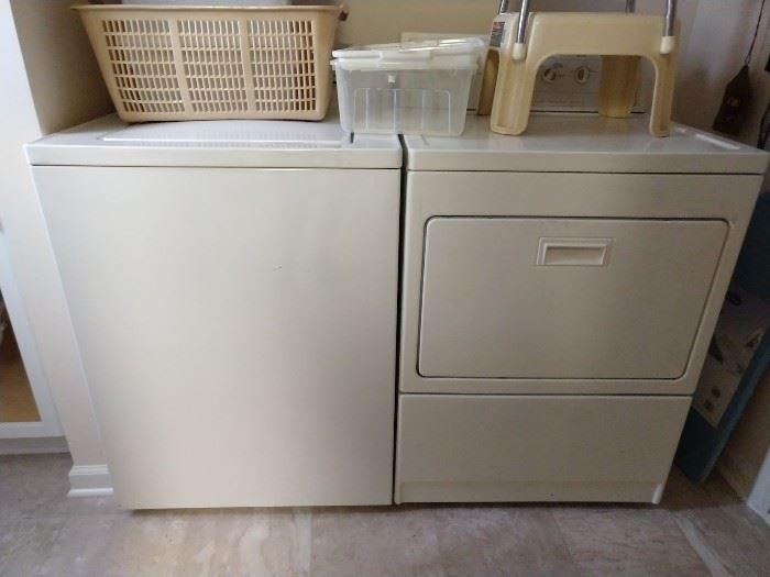 GE Washer: Model# WHDSR109J8W, Serial # VS165219G                                                                               Kenmore Dryer: Model# 67902790, Serial # MH4081114