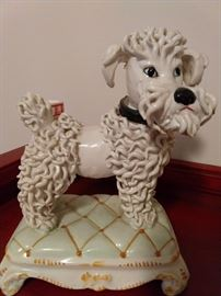 LOVE this vintage Italian porcelain poodle!